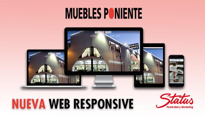 Nuevo trabajo de dise o web muebles poniente status for Muebles poniente aguadulce